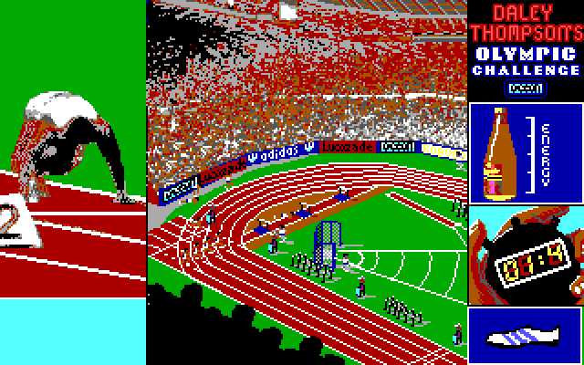 Daley Thompson Olympic Challange PC-MS DOS