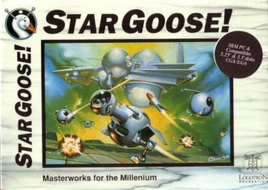 Star Goose UK cover art DOS sticker
